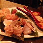 Gunkan, tartare, sashimi,nigiri.
