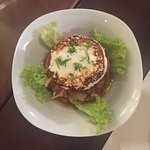 Timbal de Escalivada (eggpland salad)