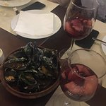 Pmejillones a la marinera (mussels marinara)