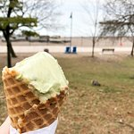 The pistachio ice cream down by The Beaches.