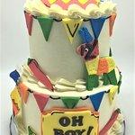 2 Tier Cinco de Mayo Fiesta Themed Baby Shower Cake by Flavor Cupcakery