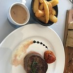 Fillet steak with peppercorn sauce - gorgeous