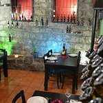 The interior of the restaurant ...