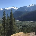 Squamish river in the background