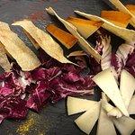 Tagliere di formaggi di Martina Franca e pane carasau