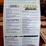 The new vegan menu - great variety!