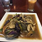 Spicy eggplant with chicken