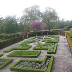 Formal Garden from window of Dutch House