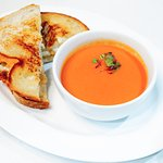 SPICY TOMATO SOUP  farmhouse grilled cheese sandwich