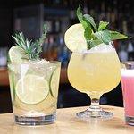 Tap Gin and House Made Tonic, Fancy Stiggings, Blackberry Fizz.  Photo Credit: Terri Meldahl