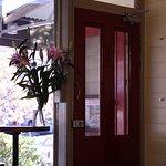 Red Door Cafe welcomes you with its...red door!