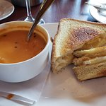Grilled cheese and cup of soup