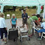 """""""Try pottery"""" outside the studio during Happy Childrens Day in Kivik"""
