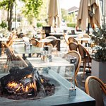 Outside seating in a warm and cosy atmosphere