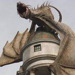 Fantastic dragon on the bank