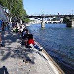 River Seine crowds.