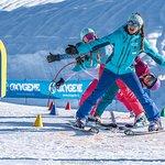 monitrice de ski Oxygène en cours collectif enfants