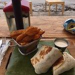 swordfish wrap w/potato wedges