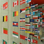 Flags at museum
