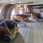 Cannon deck.