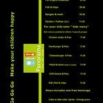 kid's menu and english food