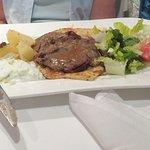 Mrs Too's Open Sandwich of Roast Lamb, Salad, and Pita Bread