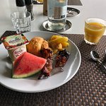 Yummy Buffet breakfast at Tipani  Meridien Bora Bora