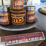 Local Country Home Candles sold at Quehl's