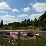 Vue sur le parc floral et les jeux