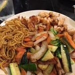 Shrimp, Chicken, Veggies, and Noodles