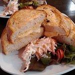 Local ham & Ementhal sourdough toastie