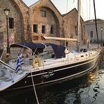 The best luxury sailing yacht at Chania - Venetian port.