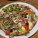 Cauliflower Pizza Crust, The Works