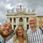 With Luca, our guide. He and Silvia are the BEST!