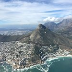 Lion's Head view from the helicopter
