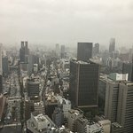 View from 35th floor on a rainy day.