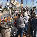 Educational sail for students learning about the health of the Great Lakes.