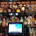 the back bar at Pedro's Lounge