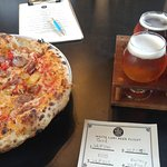 Sausage Pizza and a Flight