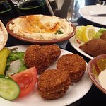 Hummus fallafel and other Appetizers.