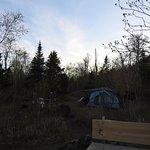 near sunset at camp