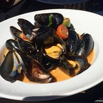 Mussels in a curry sauce