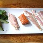 Selección de ahumados (anguila, lubina, dorada y salmón)