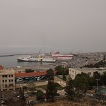 View of Heraklion Harbour from Room Balcony looking east