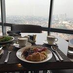 Dining at Sheraton Club 20th floor