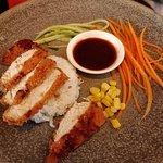 Kids meal chicken katsu. Very very small portion.