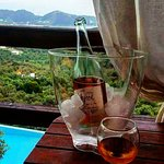 Balcony and view from Pop compact cottage.A welcoming drink to our guests☺