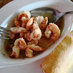 Shrimp in garlic at Tamarind Restaurant in Puerto Galera