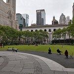 Bryant Park backs into the NY Public Library
