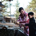 Sacred water to purify hand
